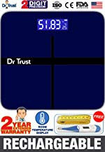 Dr Trust (USA) Electronic Executive Rechargeable Digital Weighing Scale for Human Body with Temperature Display