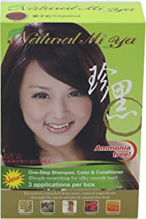 Natural Mi Ya Hair Color, Herbal Hair Dye & Hair Nutritions by Extracted Ginseng,Henna Hair Color Colorants, Permanent, Ch...