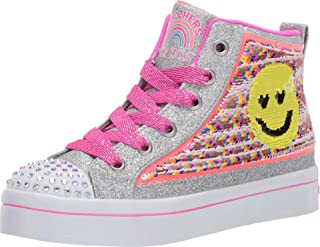 Skechers Kids' TWI-Lites 2.0-Sequin Society Sneaker