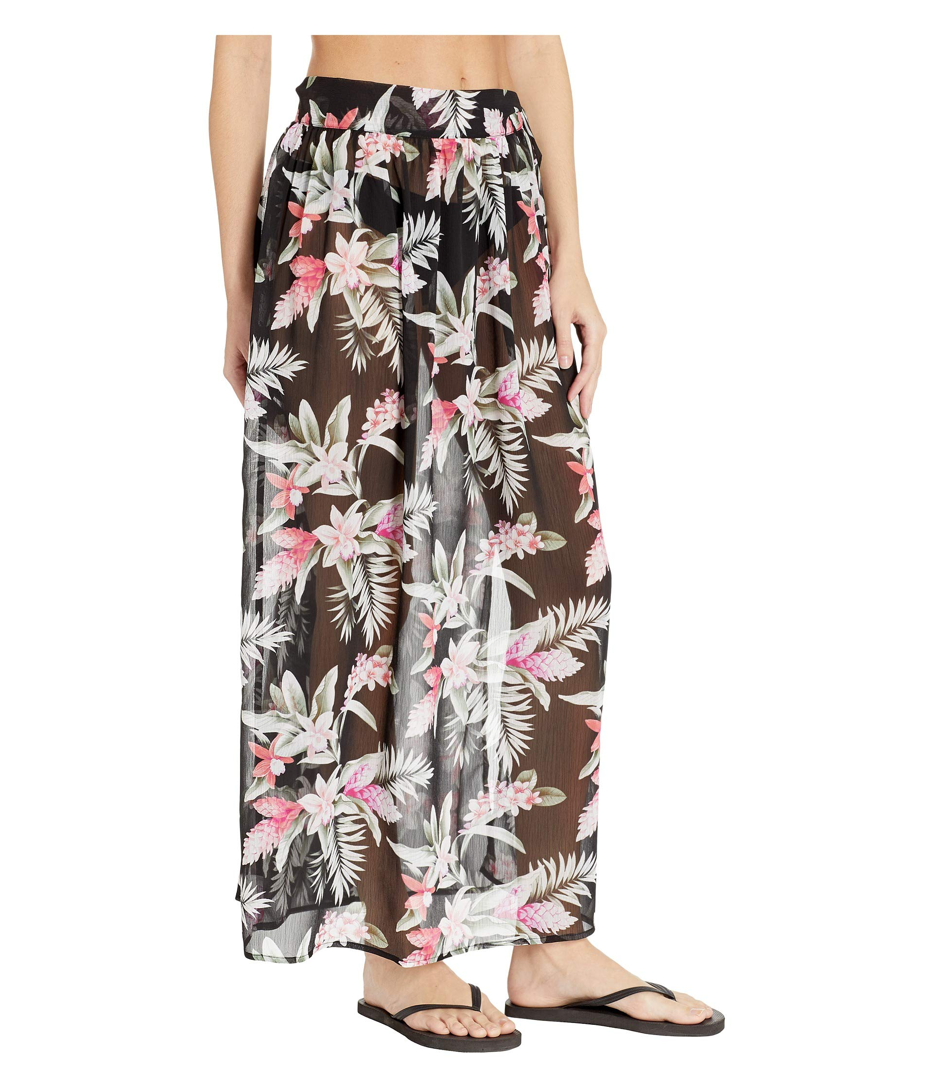 Black Tie Bahama Gingerflower Skirt Sarong Tommy T6SwW