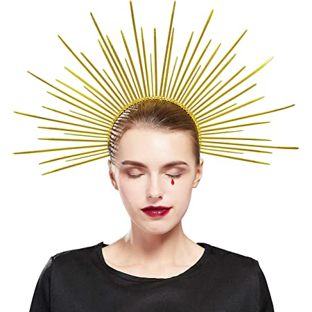 Women\u2019s Mary Halo Crown Headband Zip Tie Halo Crown Headpiece Headdress Cosplay Halloween Costume Party