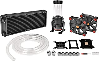 Thermaltake Pacific R240 D5 Soft Tube LCS Kit - Riing 12 Red/LCS Solution - Kit de refrigeración líquida, Color Negro
