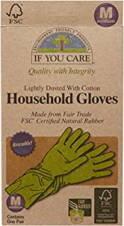 If You Care Household Latex Gloves - FSC Certified - Medium, 1 ct