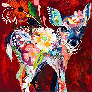 DIY Dreamy Fawn Diamond Painting, Square Full Drill Diamond Painting Kit for Adults, 5D Diamond Painting, 5D Diamond Painting kit, for Home Wall Decor, Paint by Number Kits (15.8X15.8 inch)