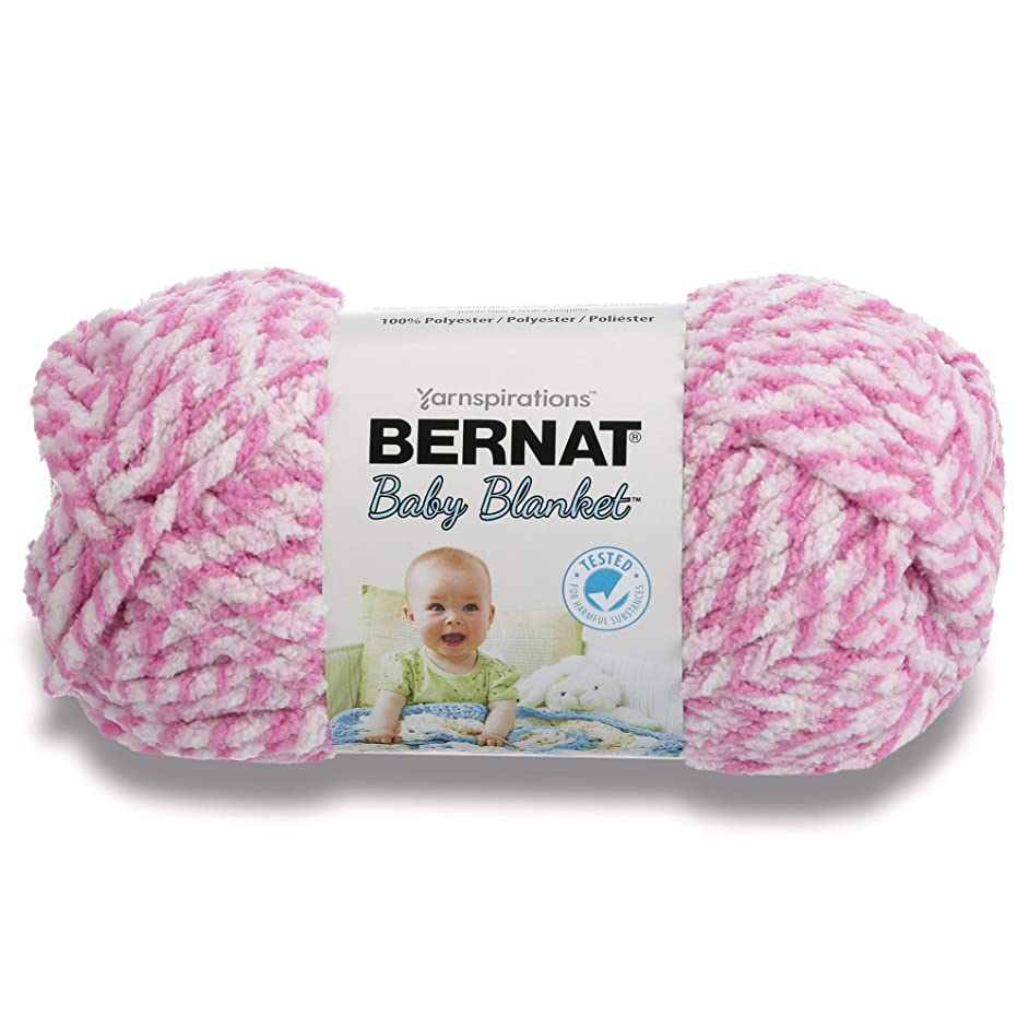 Bernat Big Ball Baby Blanket Twist Yarn, 10.5 Ounce, Pink, Single Ball