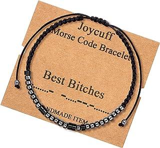 أساور مورس ملهمة للنساء الرجال رسالة سرية الخرز السري حجر السج اليدوية نسج المجوهرات هدايا عيد الميلاد لها