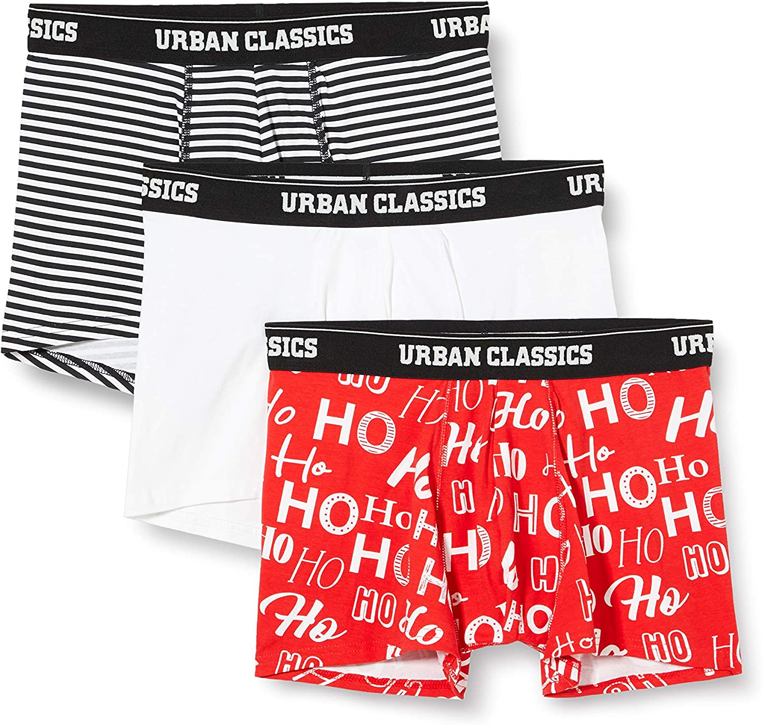 Urban Classics Men 5 ☆ very popular OFFicial store Boxer 3 Shorts of Pack