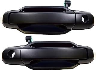 PT Auto Warehouse KI-3550P-FP - Outside Exterior Outer Door Handle, Primed Black - Front Left/Right Pair