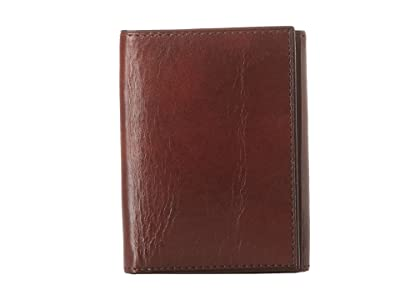 Bosca Old Leather Collection Trifold Wallet (Dark Brown Leather) Bill-fold Wallet
