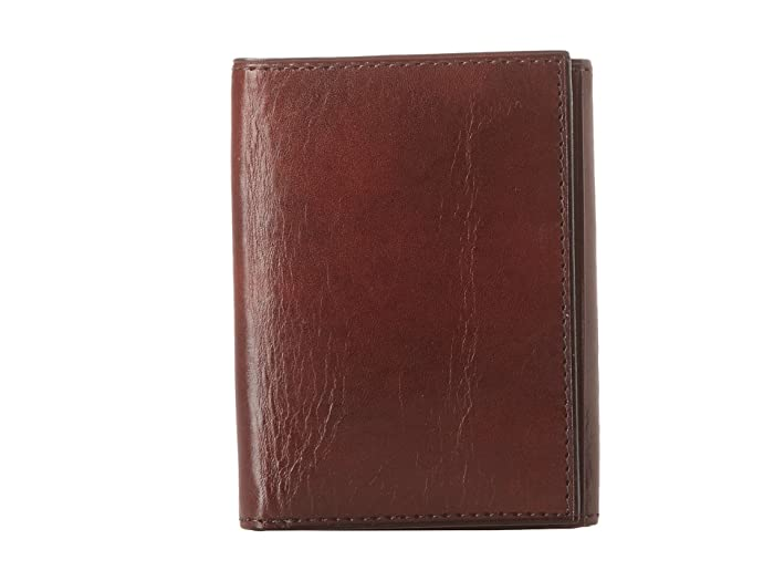 Bosca  Old Leather Collection - Trifold Wallet (Dark Brown Leather) Bill-fold Wallet