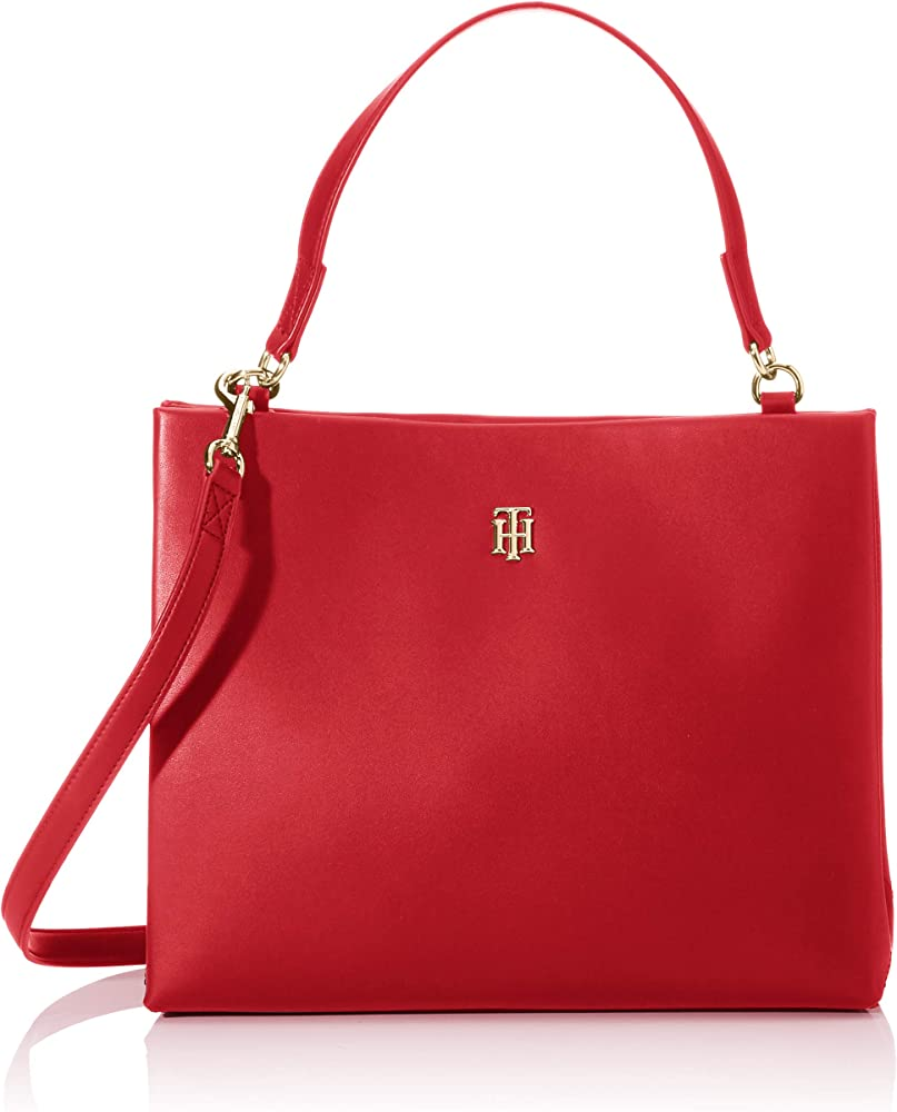 Tommy hilfiger th modern satchel, borsa per donna, in ecopelle AW0AW08225