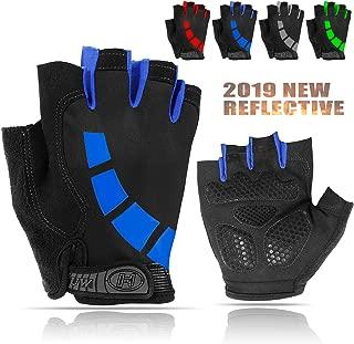 Cycling Gloves for Men/Women, Half-Finger Bike Workout Ideal Biking Gym MTB Gloves for Motorcycle/Mountain Bike, 5mm Padded Anti Slip Gloves for Outdoor Road Bicycle, Roller Skate