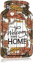 Welkom bij ons huis Mason Jar Sign, Retro decoratieve wandhangende plaque, duurzaam houten bord voor boerderij, keuken, la...