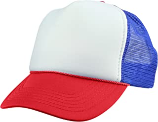 DALIX Youth Mesh Trucker Cap - Adjustable Hat (S, M Sizes)