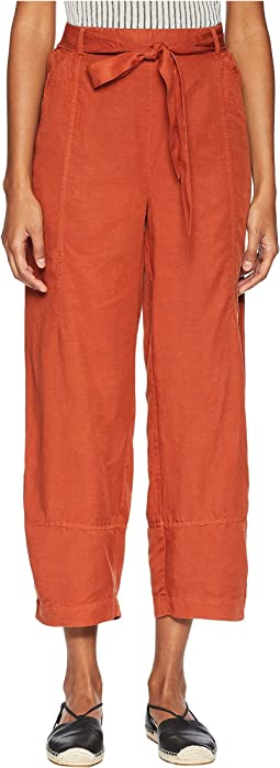 Tencel Linen Lantern Ankle Pants
