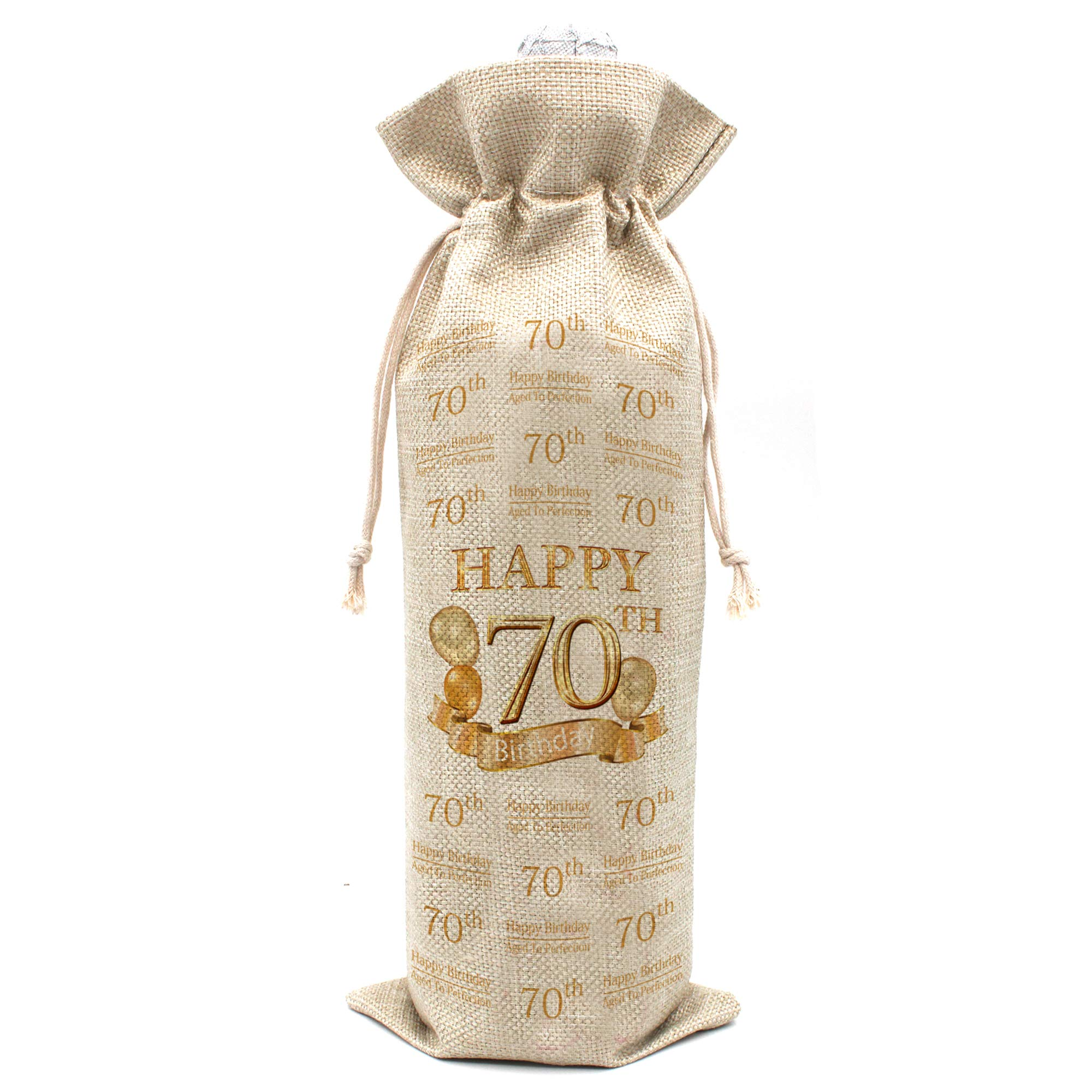 Amazon Com 70th Birthday Gifts For Women And Men Wine Bags Vintage 70 Year Old Presents Best Anniversary Gift Ideas For Him Her Husband Wife Mom Dad Cotton Burlap Drawstring