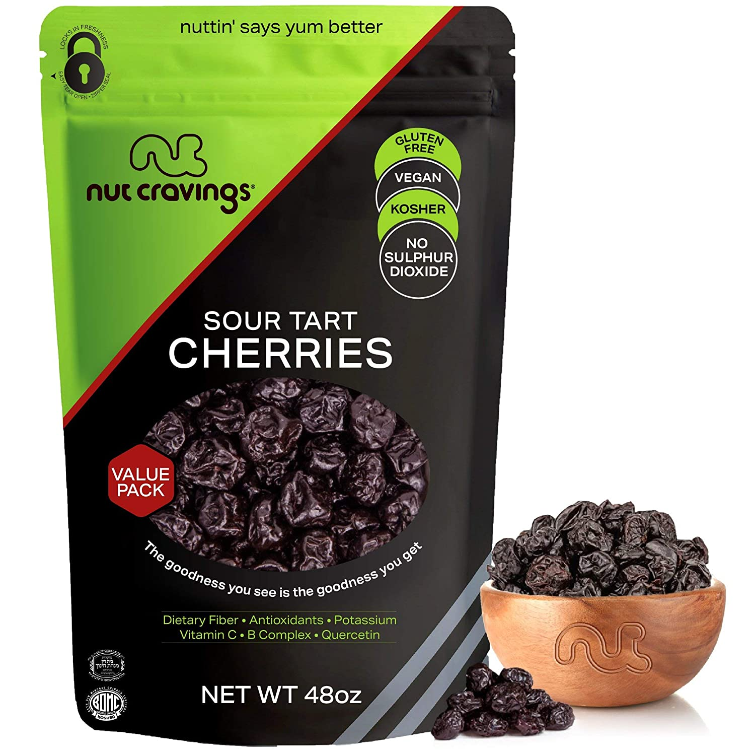 Discount mail order Sun Dried San Diego Mall Sour Tart Cherries Lightly 48oz - LB Sweetened Pa 3