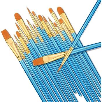10Pcs Nylon Hair Artist Paint Brush Acrylic Watercolor Round Fine Hand Point CP