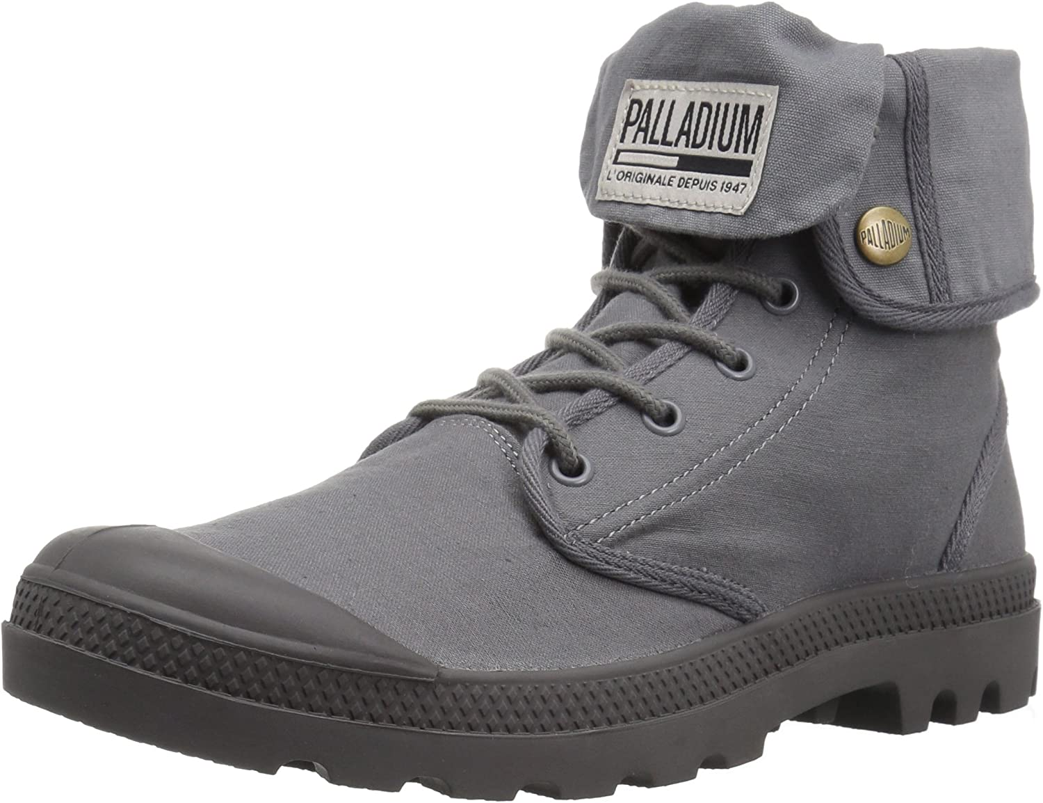 Palladium Men's Baggy Army Trng Camp Chukka Boot, French Metal Forged Iron, 3.5 M US