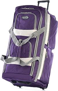 Olympia 8 Pocket Rolling Duffel Bag, Dark Lavender, 26 inch