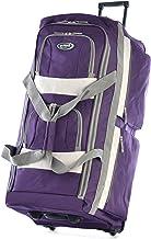 Olympia 8 Pocket Rolling Duffel Bag, Dark Lavender, 33 inch