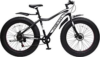 Marlin Bikes Aluminum-Alloy Fatbike Men Thor Bicycle, 26x4.9 inches (Thor Black/White)