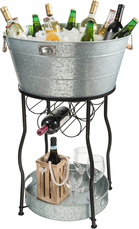 Artland 10380 Masonware Series Drink Storage, Grey
