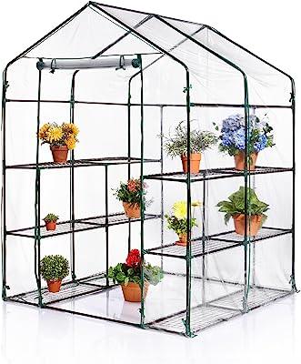 Amazon com : Pure Garden 3-Tier Greenhouse - Outdoor