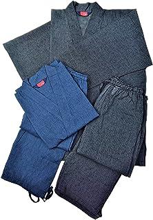綿麻夏作務衣 【同一サイズ2着組 価格】黒&紺 その日の気分で!