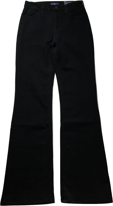 NYDJ Women's Marilyn Boot Leg Embellished Pocket Jeans, Black, 0