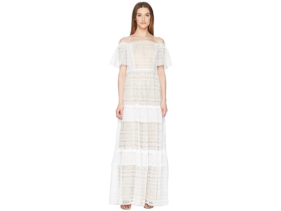 d80b407a8fa ML Monique Lhuillier Off the Shoulder Lace Maxi Dress (White) Women s  Dress. On sale - now ...