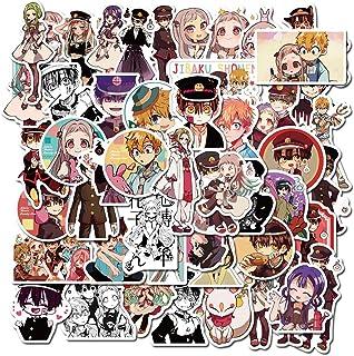 عبوة ملصقات Hanako-kun من 50 ملصقاً - ملصقات متينة مقاومة للماء ملصقات كلاسيكية يابانية أنيمي كلاسيكية لأجهزة الكمبيوتر ال...