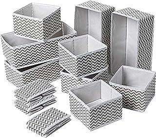 FSSQYLLX Organisateur de tiroir Boîte de Rangement 12 pièces Tiroir Pliant carré Non tissé pour Le Rangement du tiroir de ...