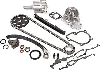 Evergreen TK3005WOPT Fits Nissan KA24E Timing Chain Kit w/Water Pump & Oil Pump