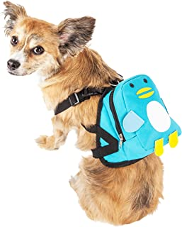 """حقيبة ظهر للحيوانات الأليفة مطبوع عليها """"Waggler Hobbler"""" مع جيب كبير من Pet Life Small BP7BLSM"""