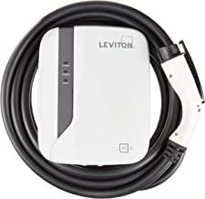Leviton EVR40-B25 Evr-Green E40 Charging Station, 40A, 208-240Vac, 9.6Kw output, 25' Charging Cable, Hardwired