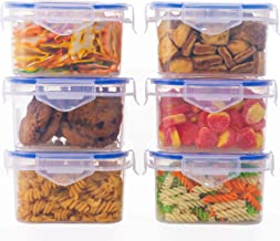 JRM's Airtight Plastic Food Storage Containers 6pc (400ML)