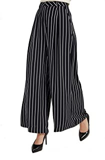 Tronjori Women High Waist Casual Wide Leg Long Palazzo Pants Trousers