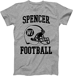 Vintage Football City Spencer Shirt for State Wisconsin with WI on Retro Helmet Style