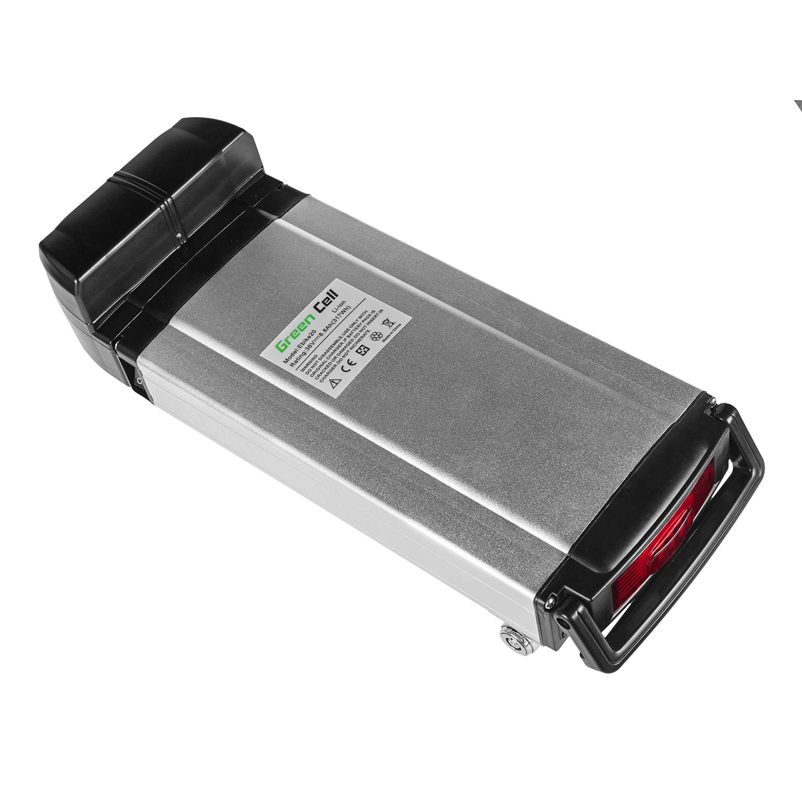 GC® Bateria Bicicleta Electrica 36V 8.8Ah con Celdas Originales Rear Rack E-Bike Li-Ion Batería y Cargador: Amazon.es: Electrónica