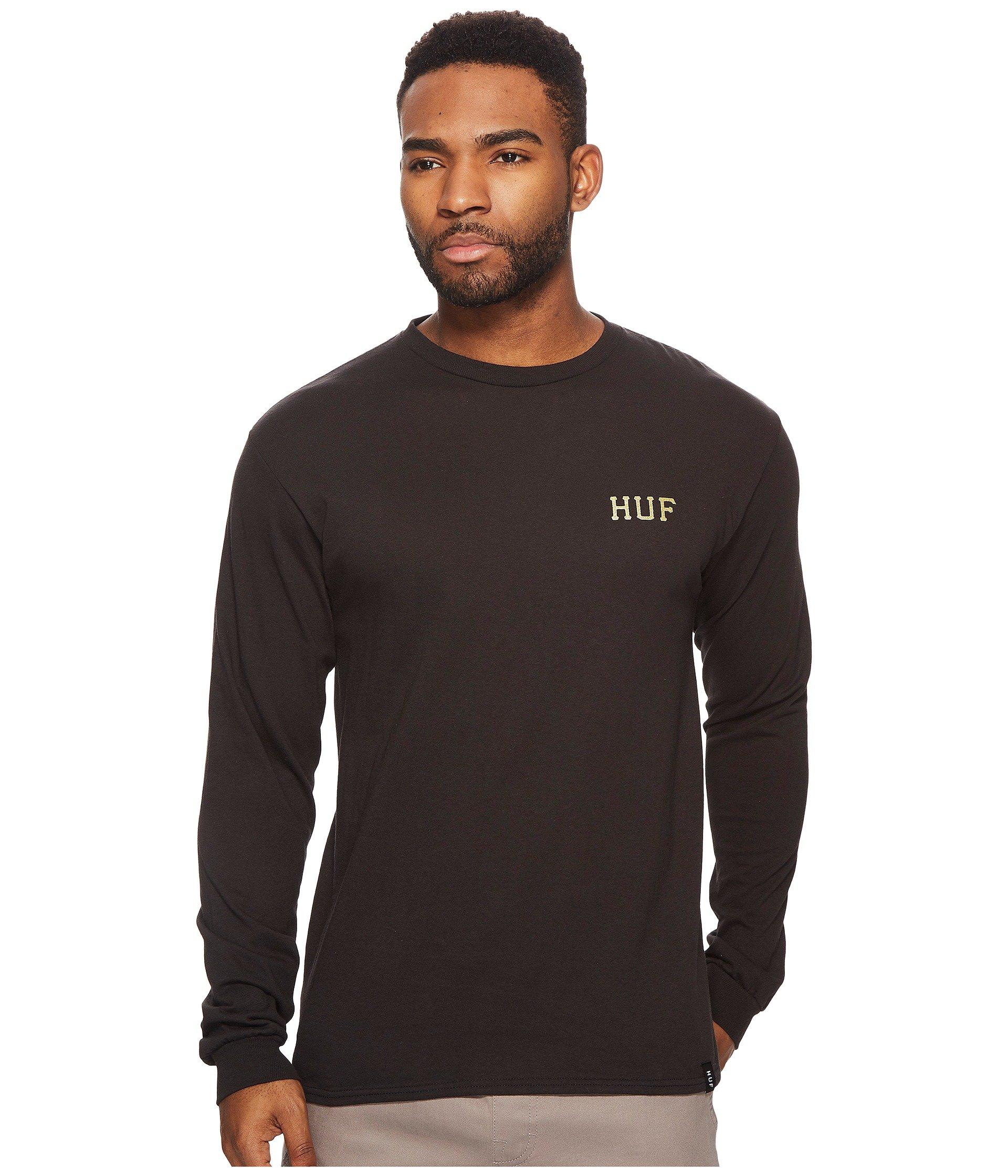Black Glitter Classic Sleeve T Long Huf H shirt qF8OvO0