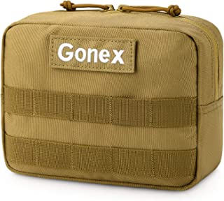 Gonex Tactical Molle Horizontal Admin Pouch, Medical EDC EMT Utility Tool Bag Shell Design Attachment Pouches 1000D Polyester Waterproof Hiking Bags