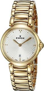 EDOX - 57002 37RM Air LaPassion Reloj de Cuarzo Suizo con Pantalla analógica, Oro Rosa