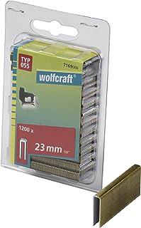 comprar comparacion Wolfcraft 7169000 7169000-1200 Grapas de Lomo Estrecho, Tipo 055, 100 x 50 x 50 cm, Set de 1200 Piezas