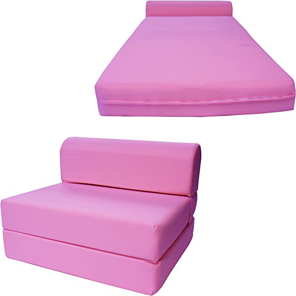 Chair Folding Foam Bed Studio Sofa Guest Folded Foam Mattress 6 X 24 X 70 Pink