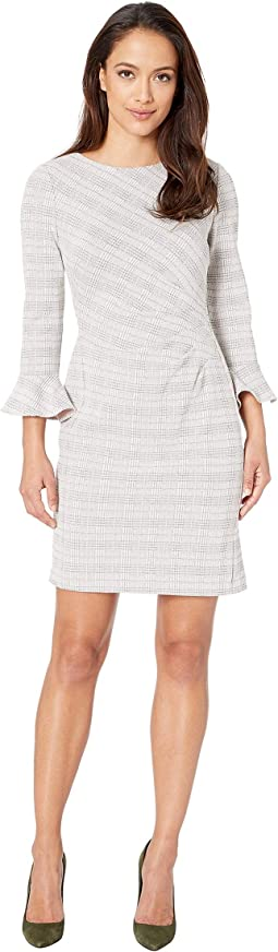 Petite Daria 167F Retro Knit Plaid Day Dress