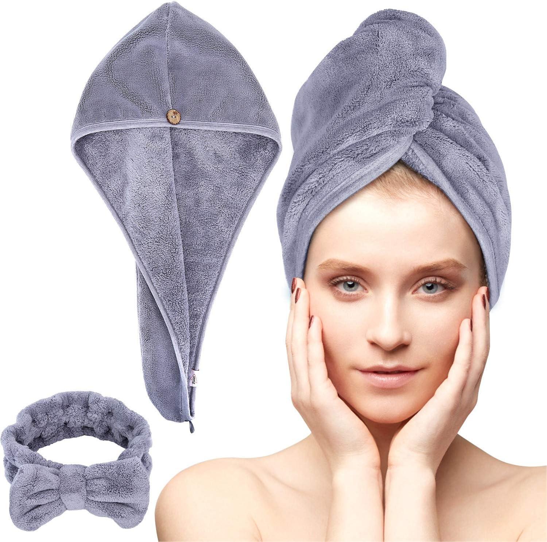 Microfiber Hair Genuine Free Shipping Towel Wrap Set Anti Frizz MicrofiberHair5% OFF -