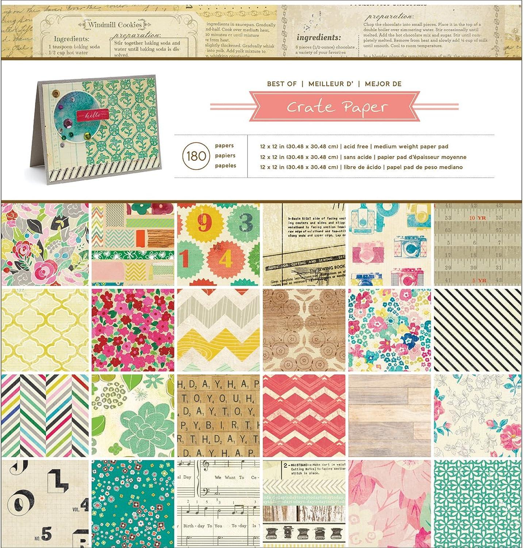 American Crafts Papier Box Papier Pad 12 Zoll x 12 12 12 Zoll 180 kg Box Papier B00GU13VTA | Moderne und stilvolle Mode  429abf
