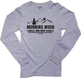 Hollywood Thread Morning Wood Lumber Company EST. 1969 Men's Long Sleeve T-Shirt