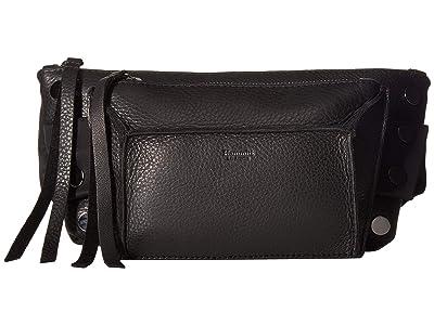 Hammitt Charles (Black/Black Nylon/Black Cotton/Gunmetal) Handbags